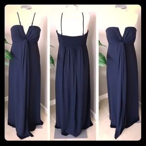 GORGEOUS ASOS Navy Blue Evening Gown NWT